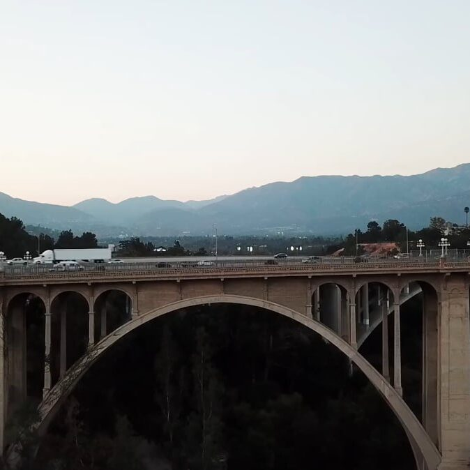 pasadena bridge aerial photography